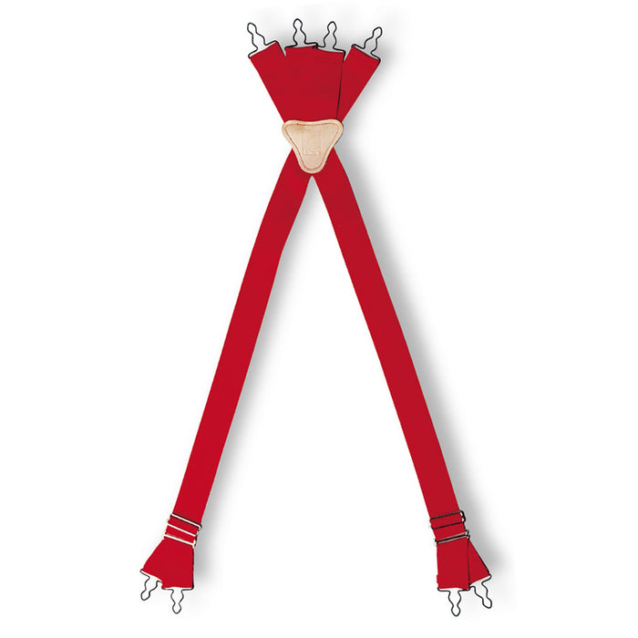Lion S-T-R-E-T-C-H, Red, Four-Way Suspenders