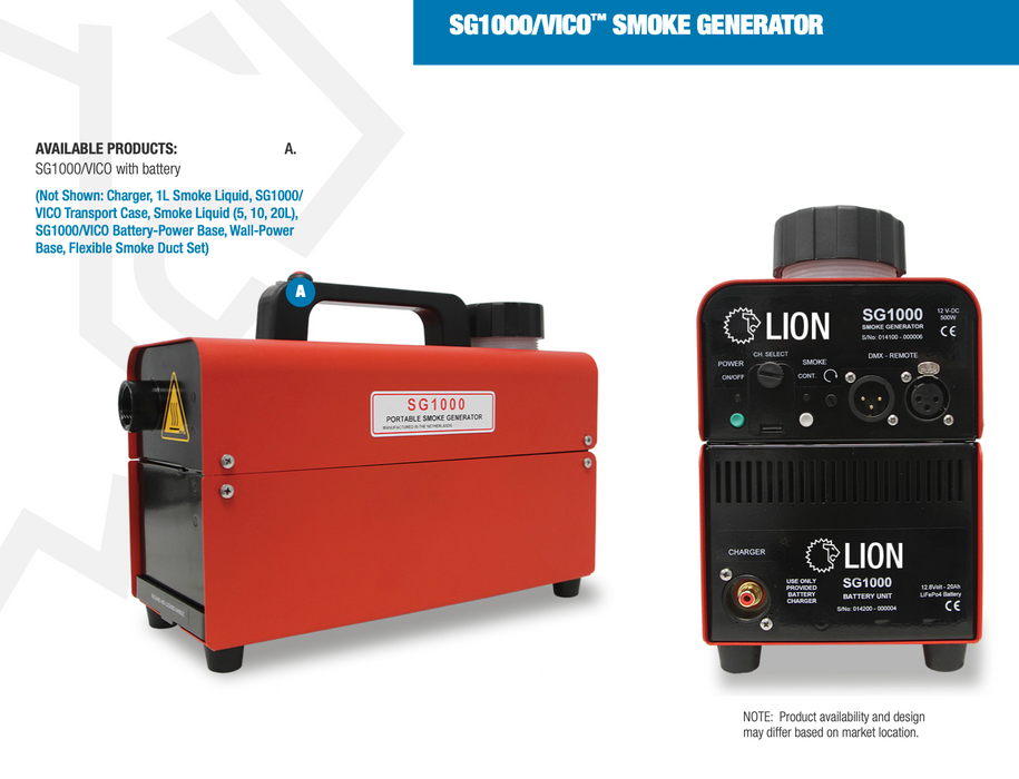 Lion Bullex SG1000 Smoke Generator Package