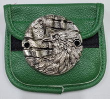 Load image into Gallery viewer, Motorcycle Points Cover - Eagle & Flag - Gunmetal finish - 2 Bolts