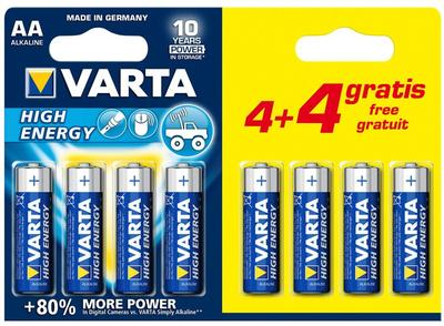 Varta high energy batterij aa blister 4+4