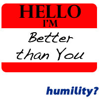 In all humility...