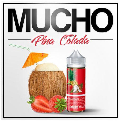 Mucho Pina Colada - Coconut Cream, Rum, Pineapple, Strawberries