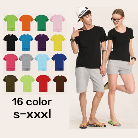 Solid Color Men Casual Cotton tshirts Streetwear Gym Top Tees