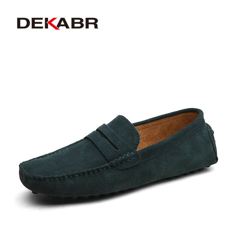 DEKABR High Quality Genuine Leather Shoes MENS Flats Driving Shoes