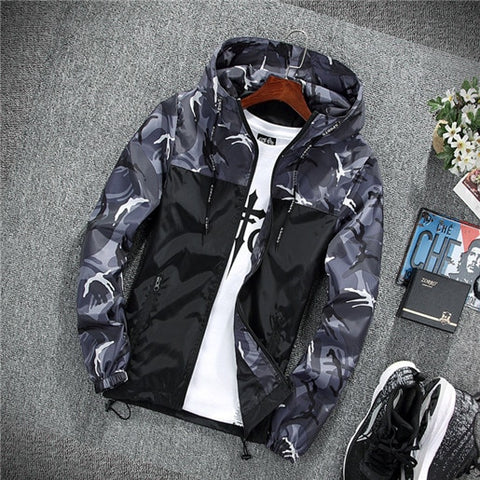 Men's casual  camouflage jacket.