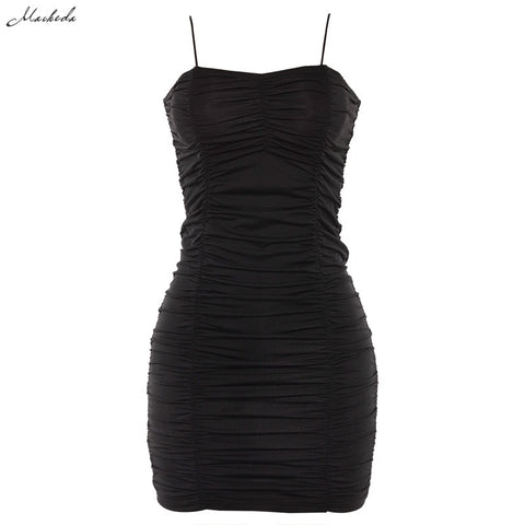 Macheda Sexy Bodycon Spaghetti Strap Mini Dress