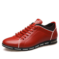 Male Flats Lace-up Driving shoes