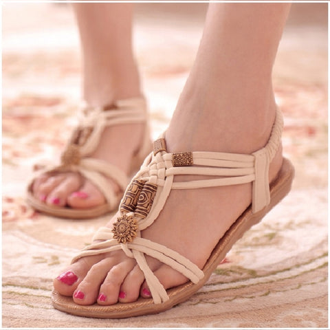 Beach Ladies Shoes Women Gladiator flat