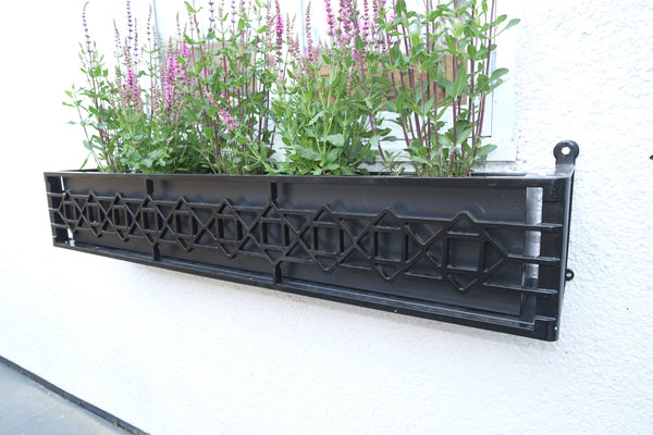 Dark Grey Galvanised Window Boxes / Troughs