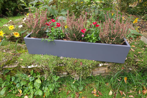 Light Grey Galvanised Steel Troughs