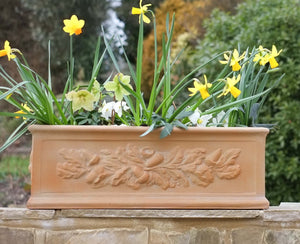 Oak Leaf Fibreglass Window Box