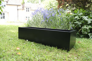 Wide Black Galvanised Steel Troughs