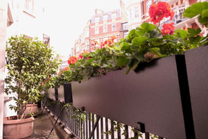 Black Galvanised Steel Window Boxes / Troughs