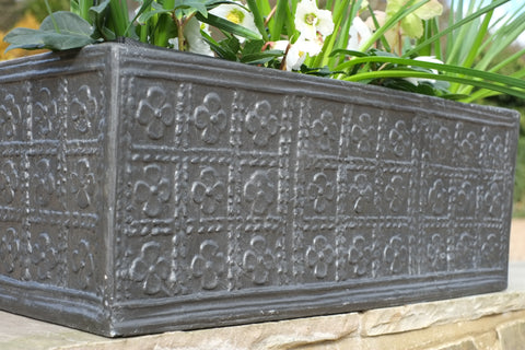 Tudor Rose Fibreglass Window Box