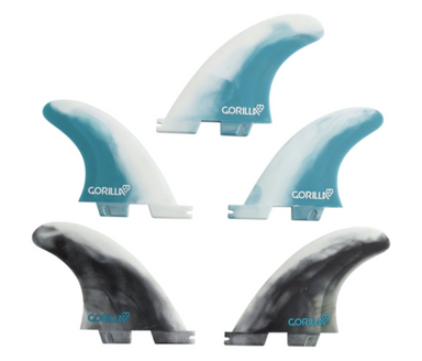 GORILLA FCS II Medium Blue Core PC Tri-Quad Fins | Jungle Surf Store | Bali Indonesia