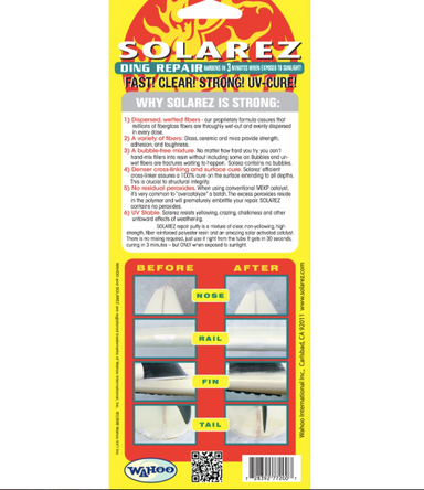 SOLAREZ Polyester Wennie Surfboard Repair - Jungle Surf Store