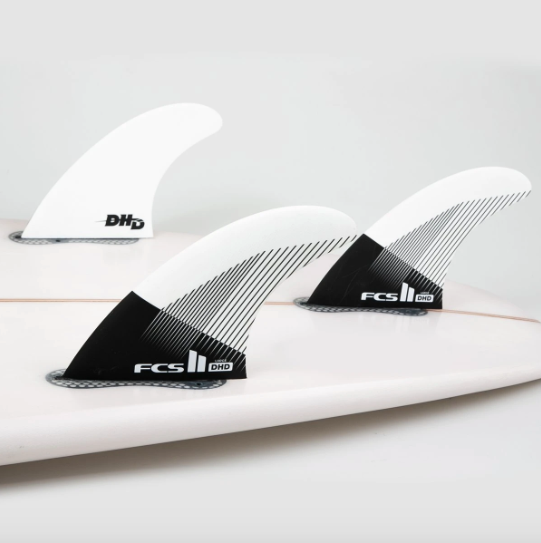 FCS II Black and White Darren Handley PC Thruster Fins In Surfboard - Jungle Surf Store - Bali Indonesia