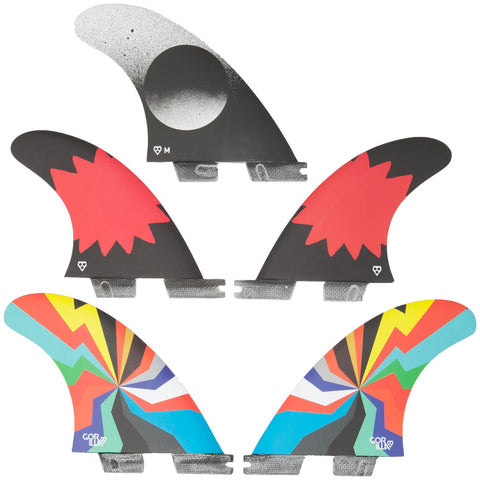 GORILLA FCS II Darkside Hyper Blam Medium Tri-Quad Fins