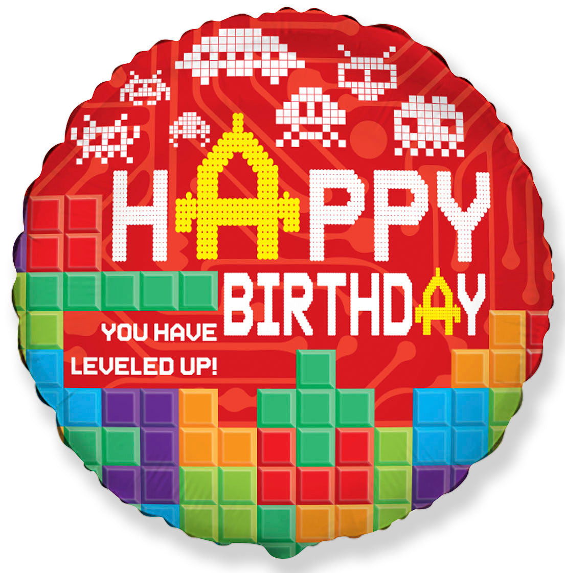 Globo mylar Happy Birthday Bricks - Mis Globos