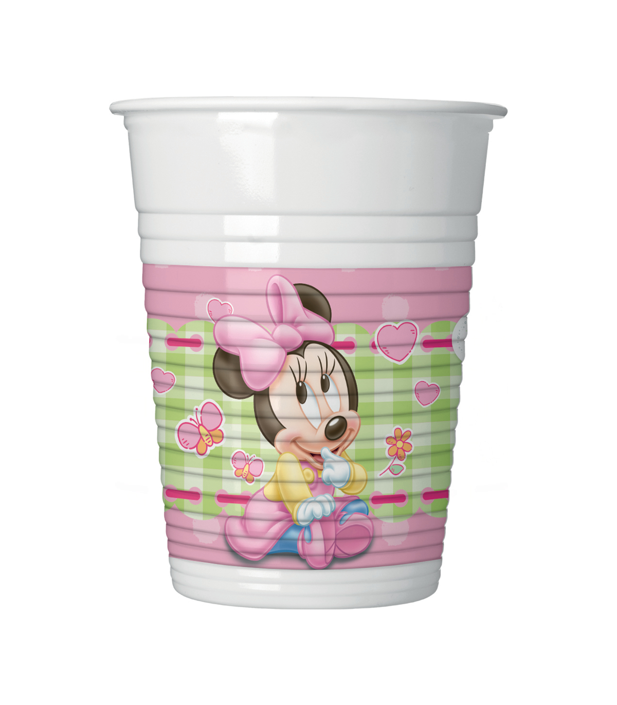 8 Vasos 200 Ml Baby Minnie - Mis Globos