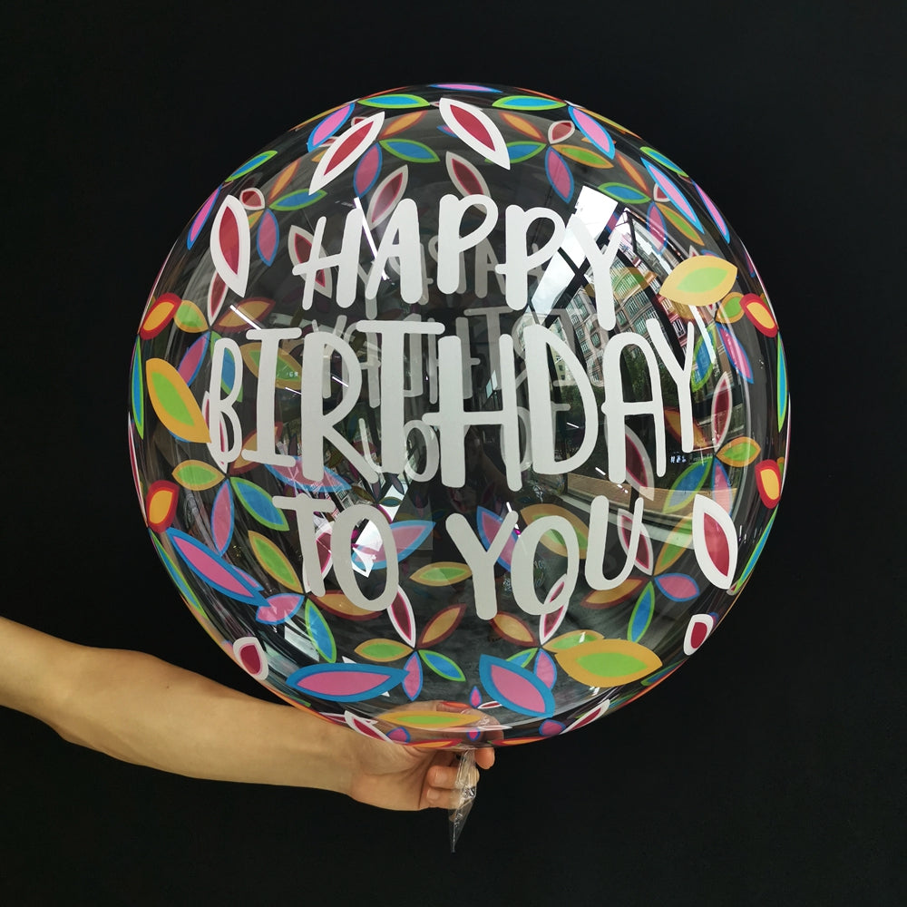 Decoburbuja de 50 Cm. Happy Birthday to you - Mis Globos