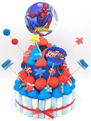 Tarta de chuches Spiderman - Mis Globos