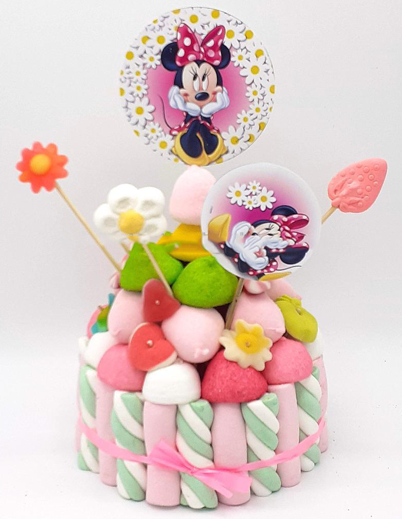 Tarta de chuches Minnie Mouse - Mis Globos