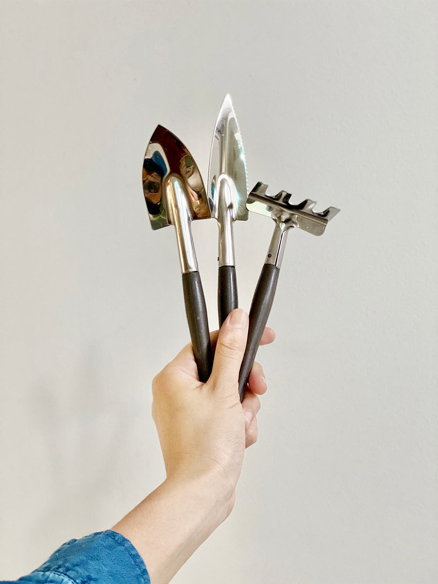 Chrome Mini Gardening Tools