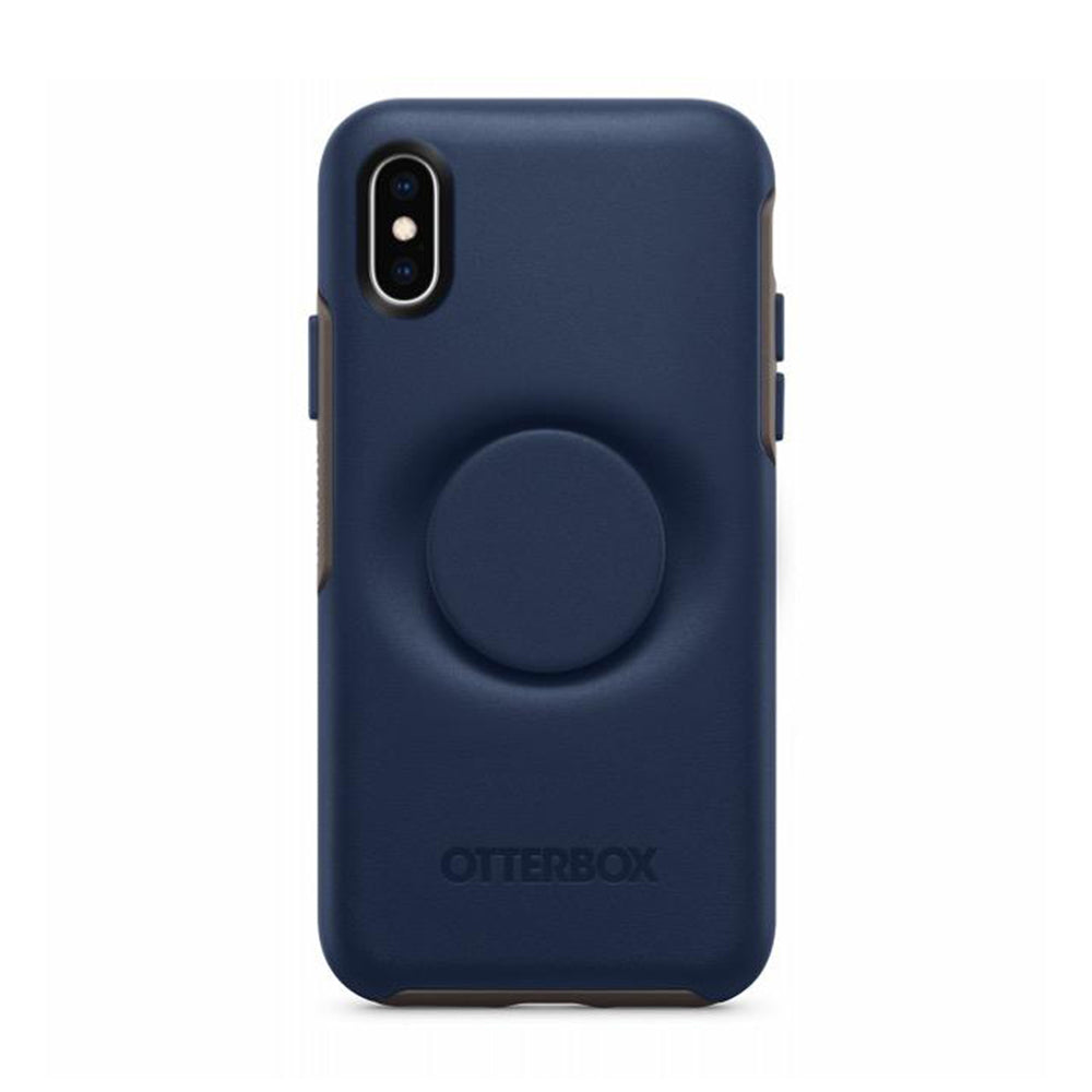 Otter + Pop Symmetry Case Go To Blue for iPhone Xs Max, PopSockets