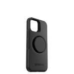 Otter+Pop Symmetry Series for iPhone 12 Mini, Black, PopSockets