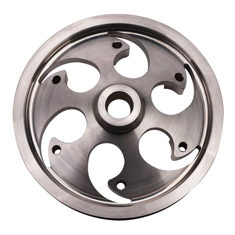 Wehrli 01-16 Chevrolet 6.6L Duramax Twin CP3 Pulley Deep Offset - Raw Finish