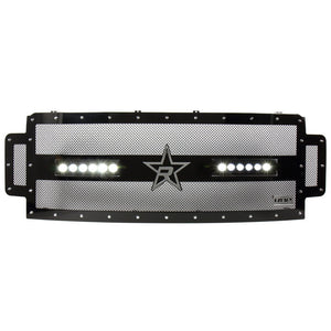 RBP RX-3 Midnight Edition Black LED Bar Grille (Studded) 2017 Ford Super Duty F250/F350 w/Frt Camera