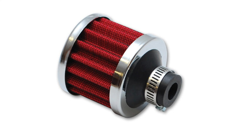 Vibrant Crankcase Breath Filter w/ Chrome Cap 2 1/8in 55mm Cone ODx2 5/8in 68mm Tallx1in 25mm in ID