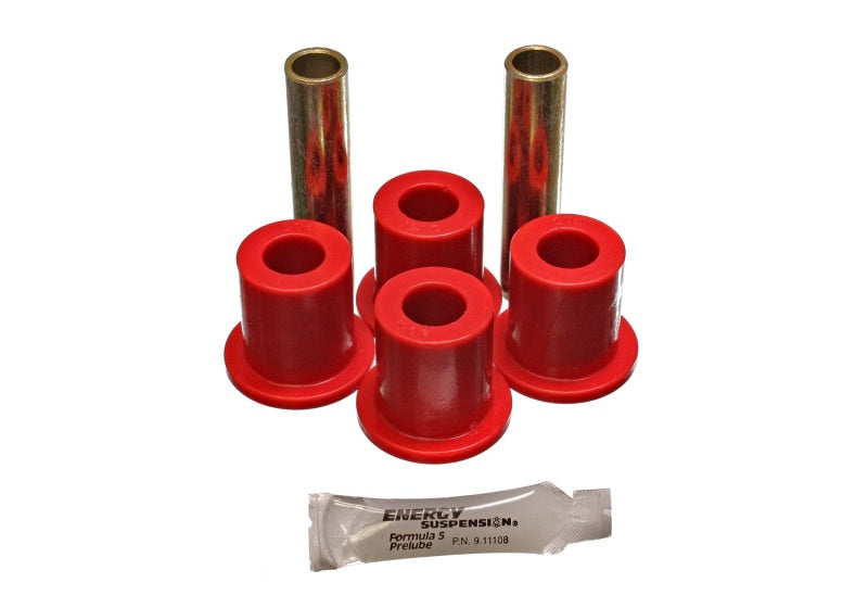 Energy Suspension Rr Spring Frame Shackle Kit - Red