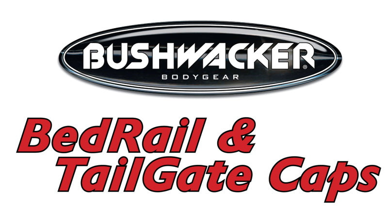 Bushwacker 02-08 Dodge Ram 1500 Fleetside Bed Rail Caps 78.0in Bed - Black