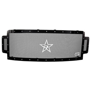 RBP RX-5 Halo Series Studded Frame 1pc Grille 17-18 Ford Super Duty F250/F350 w/o Fr. Camera - Black