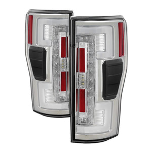Spyder 17-18 Ford F-250 Super Duty (Excl LED Models) LED Tail Lights - Chrome (ALT-YD-FS17-LED-C)