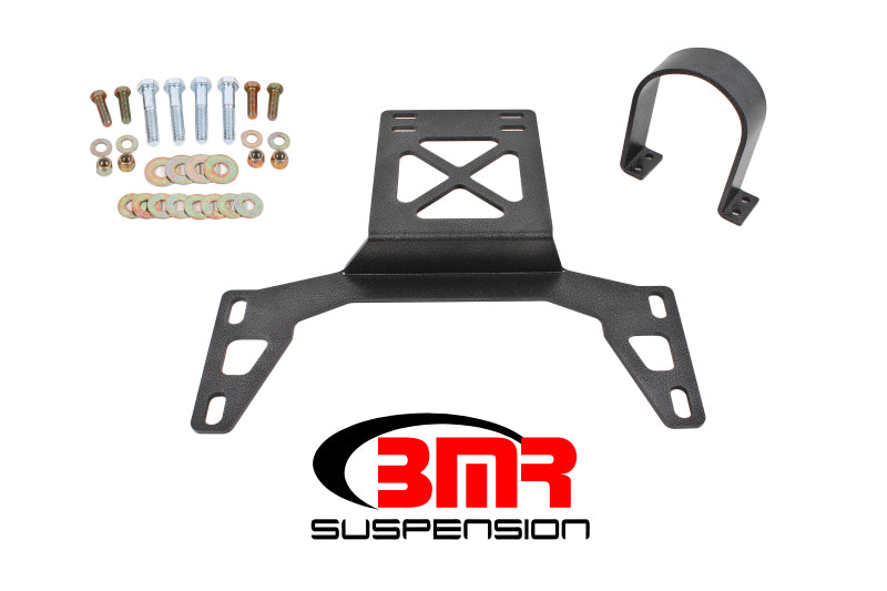 BMR 07-14 Shelby GT500 Front Driveshaft Safety Loop - Black Hammertone