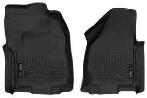 Husky Liners 12-16 Ford F-250/F-350 Standard Cab w/o Trans Case Shifter XAC Black Front Floor Liners