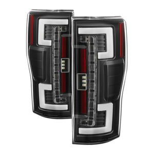 Spyder 17-18 Ford F-250 SD (w/Blind Spot Sensor) LED Tail Lights - Blk (ALT-YD-FS17BS-LED-BK)