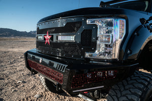 RBP RX-3 Midnight Edition Black LED Bar Grille (Studded) 17 Ford Spr Duty F250/F350 w/o Front Camera