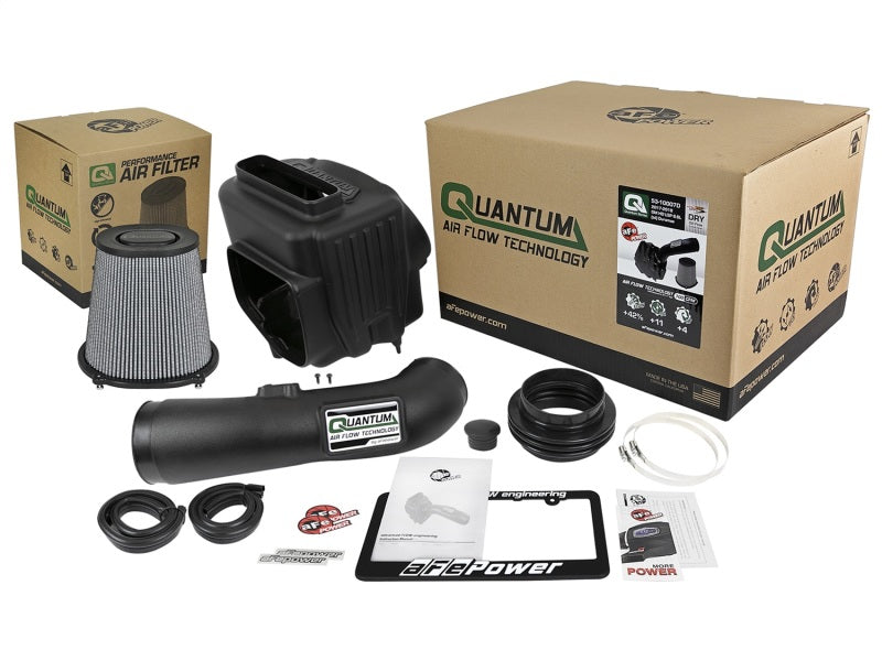 aFe Quantum Pro DRY S Cold Air Intake System 17-18 GM/Chevy Duramax V8-6.6L L5P - Dry