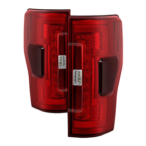 Spyder 17-18 Ford F-250 SD (w/Blind Spot Sensor) LED Tail Lights - Red Clr (ALT-YD-FS17BS-LED-RC)