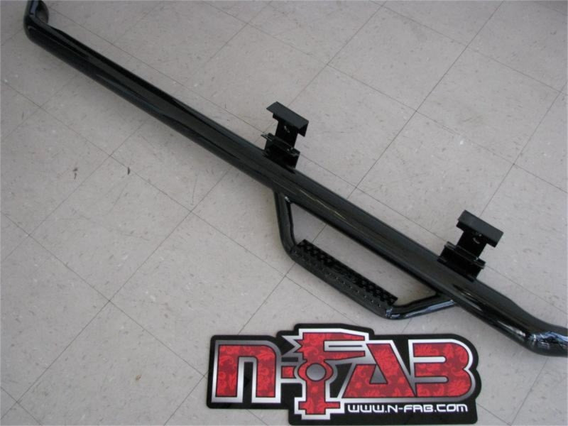 N-Fab Nerf Step 15-18 Ford F-150 Regular Cab 6.5ft Std Bed SRW - Gloss Black - Cab Length - 3in