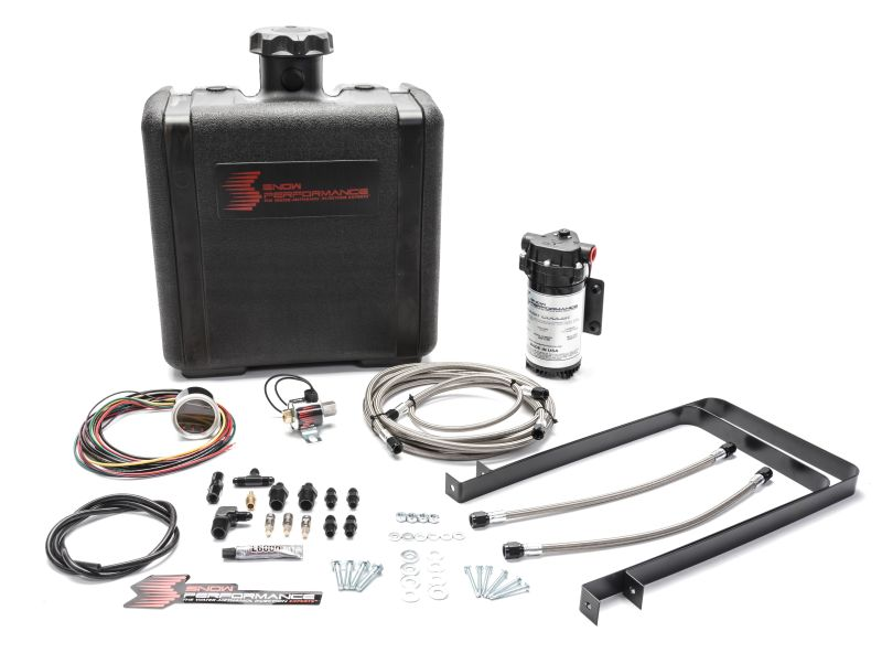 Snow Performance Chevy/GMC Stg 2 Boost Cooler Water Injection Kit (SS Braided Line 4AN Fittings)
