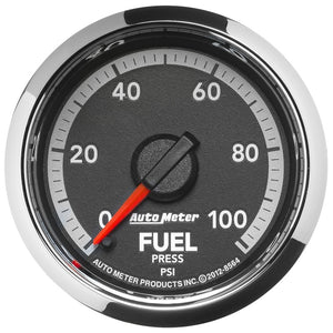 Autometer Factory Match 2 1/6in Full Sweep Electronic 0-100 PSI Fuel Pressure Gauge Dodge Ram Gen 4