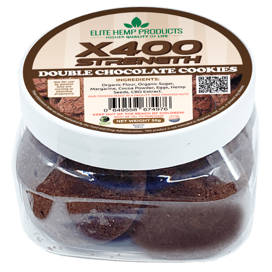 x400 CBD Double Chocolate Cookies