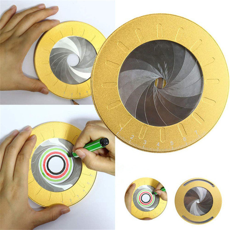 Rotary Adjustable Metal Drawing Measurement Circle Drawing Tool For Woodworking