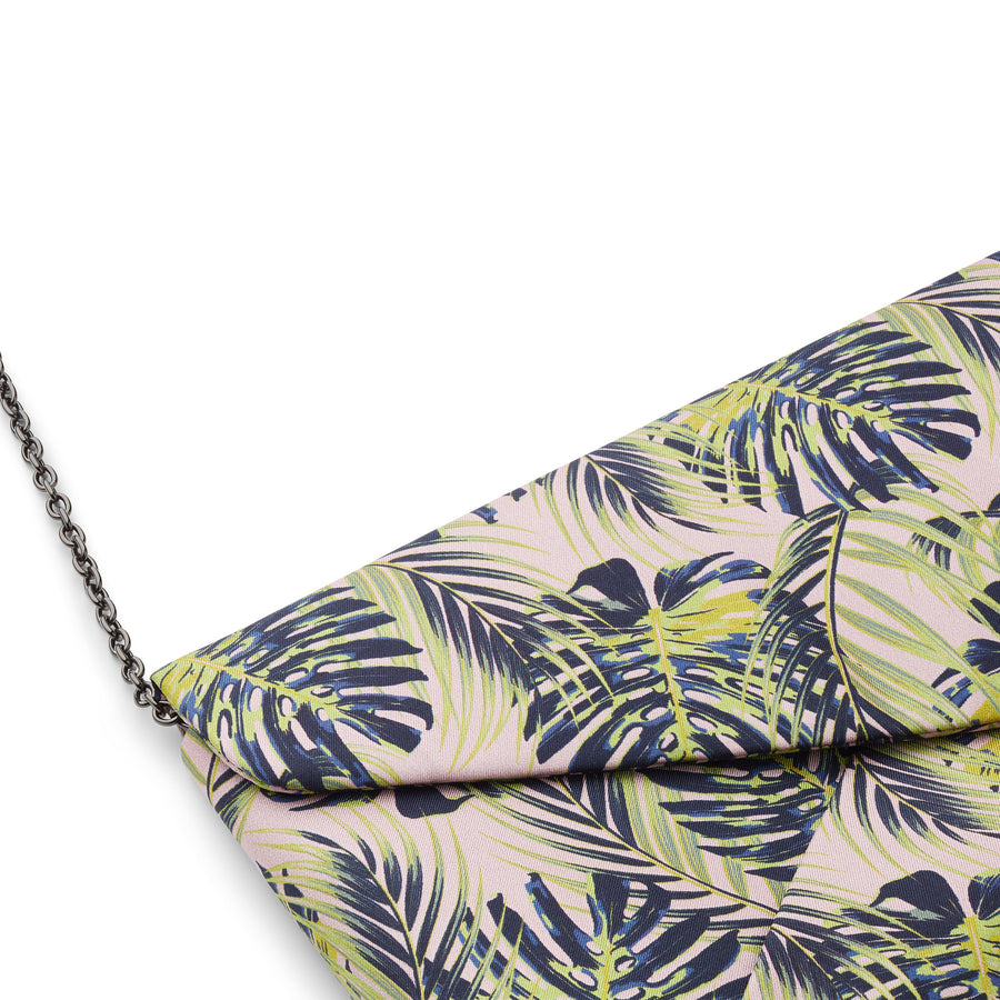 PALM LEAVES Silke Clutch