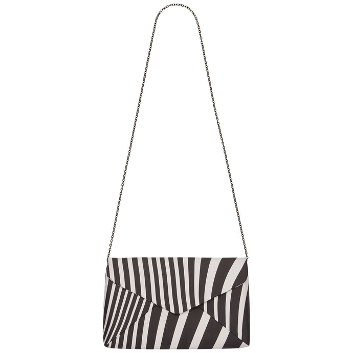 FUNKY STRIPE Silk Clutch